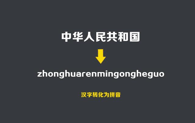 PHP汉字转换为拼音的类