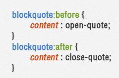 CSS伪元素:Before和:After的使用